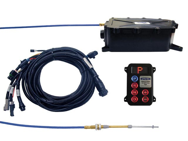 A-GSM5005 - Gear Select Module Kit w/Black Anodized Remote Configured for Hard Wired Vehicle Speed and Brake Light