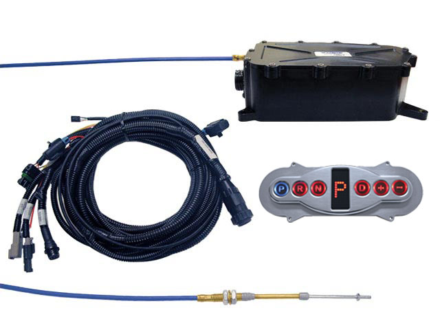 A-GSM5017 - Gear Select Module Kit w/Polished Inline Horizontal Remote Configured for Hard Wired Vehicle Speed and Brake Light