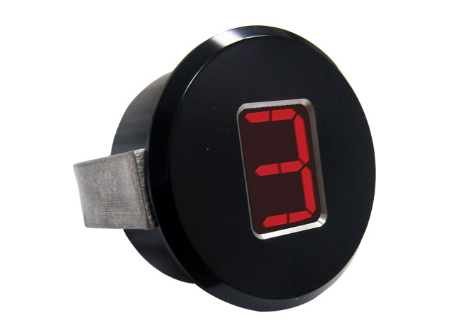 "A-TCM3702 - Digital Gear Indicator, 1.75"" OD, Black Anodized"